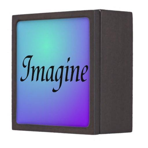 Imagínese la caja púrpura de la baratija caja de regalo de calidad