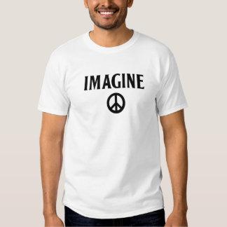 Imagínese la camiseta Beatles de la paz el lennon Playera