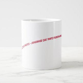 imagínese la diferencia taza de café grande