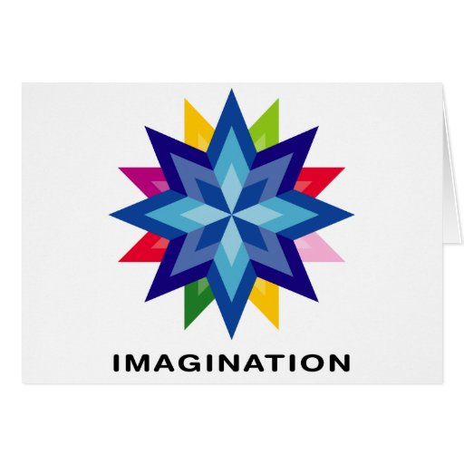 Imagínese la estrella tarjetón