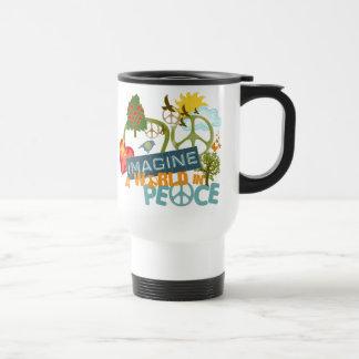 Imagínese la paz de mundo taza de café