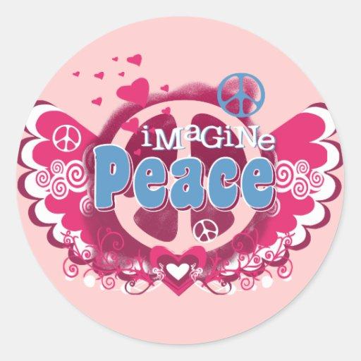 Imagínese la paz etiquetas