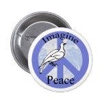 Imagínese la paz pins