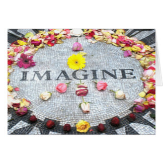 Imagínese la paz tarjeta de felicitación