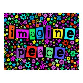 Imagínese la postal de la paz