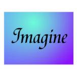 Imagínese la postal púrpura