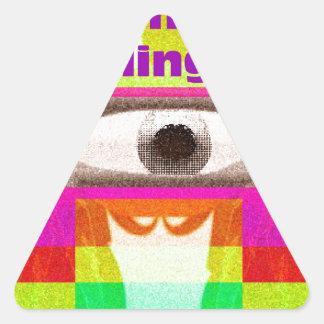 Imagínese la sensación pegatina triangular