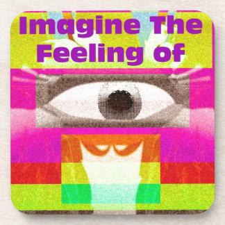 Imagínese la sensación posavaso