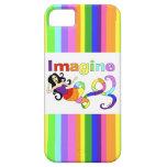 Imagínese la sirena del arco iris iPhone 5 cobertura
