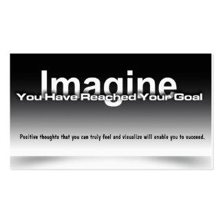 Imagínese la tarjeta de la meta tarjetas de visita