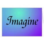 Imagínese la tarjeta púrpura
