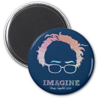 Imagínese las chorreadoras 2016 de Bernie - las Imán Redondo 5 Cm
