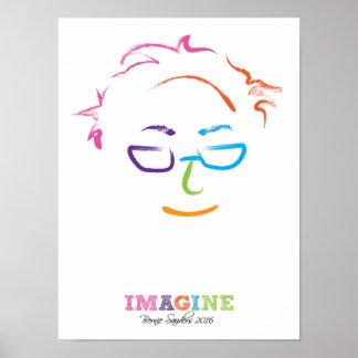 Imagínese las chorreadoras 2016 de Bernie Póster