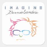 Imagínese las chorreadoras de Bernie Pegatina Cuadrada