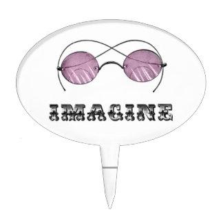 Imagínese las gafas de Steampunk del vintage Figura De Tarta