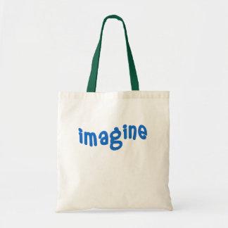 IMAGÍNESE las letras azules onduladas Bolsas