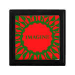Imagínese los colores del navidad del mosaico caja de recuerdo
