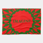 Imagínese los colores del navidad del mosaico toalla de cocina