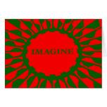 Imagínese los colores del navidad del mosaico tarjeta de felicitación