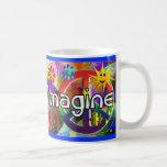 """""""Imagínese"""" los regalos de los años 70 de Taza Básica Blanca"""