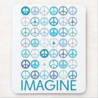 IMAGÍNESE - los signos de la paz internacionales a Alfombrillas De Ratones