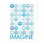 IMAGÍNESE - los signos de la paz internacionales a Postal