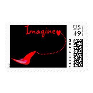 """Imagínese""---Regalos de Juan Timbre Postal"