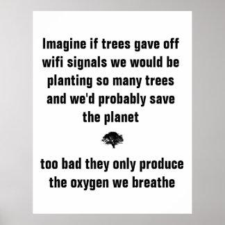 Imagínese si los árboles emitieran señales del wif posters