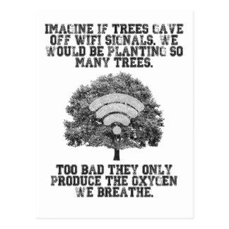 Imagínese si los árboles emitieron las señales de tarjeta postal