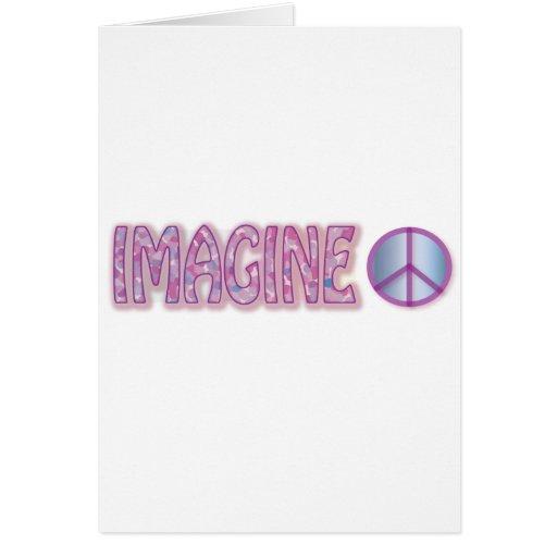 imagínese tarjeta de felicitación