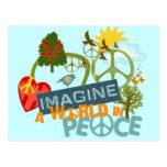 Imagínese un mundo en paz postal