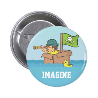 Imagining an adventure with cardboard boxes pin