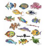 Imaginocean Two Sided Cartoon Fish shirt