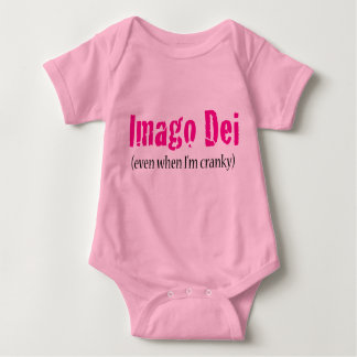 Imago Dei (even when I'm cranky) Pink Baby Bodysuit