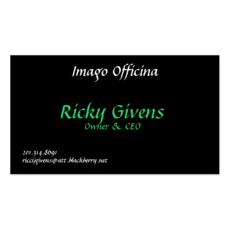 Imago Officina, Ricky Givens, dueño y CEO, 201…. Tarjeta De Visita