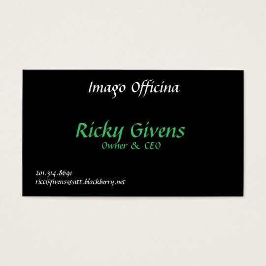 Imago officina ricky givens owner ceo 201 business card imago officina ricky givens owner ceo 201 business colourmoves