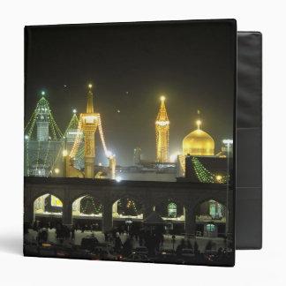 Imam Reza Shrine Complex at night, Mashhad, Vinyl Binders