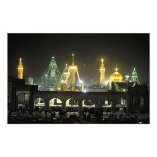 Imam Reza Shrine Complex at night, Mashhad, Photo Print