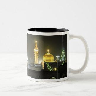 Imam Reza Shrine Complex at night, Mashhad, Two-Tone Coffee Mug