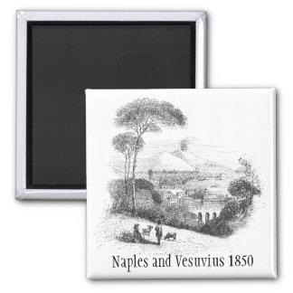 Imán 1850 del volcán de Nápoles y de Vesuvio