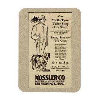Imán 1902 de la ropa de Chicago Mossler Co.