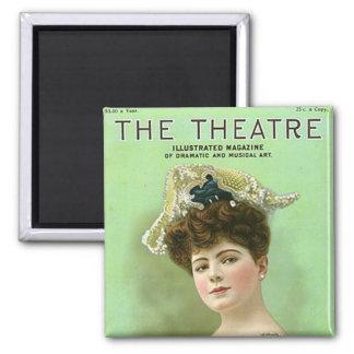 Imán 1906 de la revista del teatro del vintage del