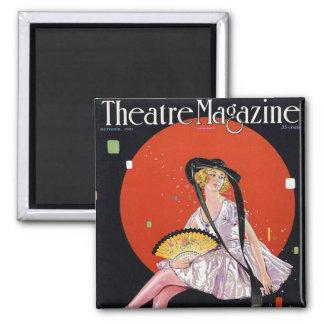 Imán 1921 de la revista del teatro del vintage del