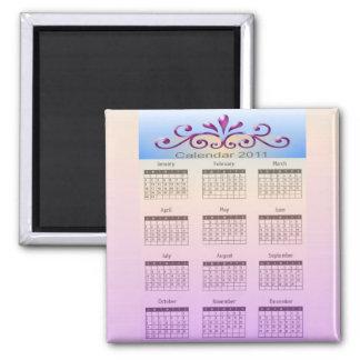 Imán 2011 del calendario