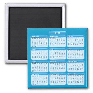 Imán 2011 del calendario del azul de cielo