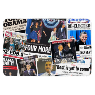 Imán 2012 del título de periódico de Obama