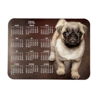 Imán 2016 de la foto del calendario del perro