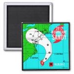 Imán 2 de la pista de Sandy del huracán