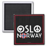 Imán 4 de la paz del amor de Oslo Noruega