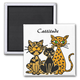 Imán A.C. divertido de Cattitude de los gatos